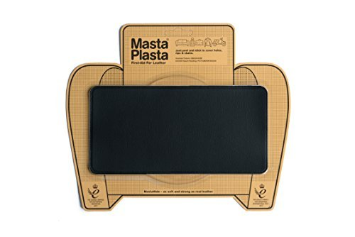 MastaPlasta Self-Adhesive Patch for Leather and Vinyl Repair, Large, Black - 8 x 4 Inch - Multiple Colors - Jackets Glue Leather For