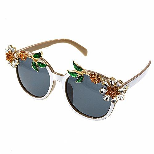 Baroque Disponibles Varios Crystal Gafas Show Gafas Mujer Colores Sunglasses Zhongsufei Style Fashion a Sol Mano Gafas de para Sol exquisitas Hechas Lentes Marco Mujer de de de Sunflower para en YS0Fq