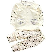 Smgslib 2pcs Baby Girl Clothes Set Infant Outfits Long Sleeve Toddler Shirt + Pants
