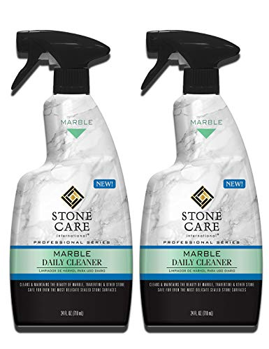 Stone Care International Marble Daily Cleaner - 24 Ounce (2 Pack) - Clean and Polish Your Marble Countertop Island and Stone Surface (Best Stone For Bathroom Countertop)