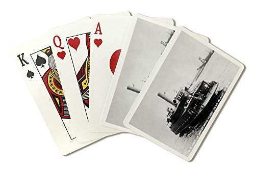 New York - Ellis Island Ferry Photograph (Playing Card Deck - 52 Card Poker Size with Jokers)