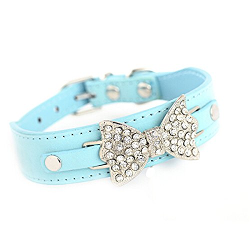[Neonr Stand Out Rhinestone From the Crowd in This Impressive Dog Collar with Huge Diamonte] (Video Of Dog In Costume)