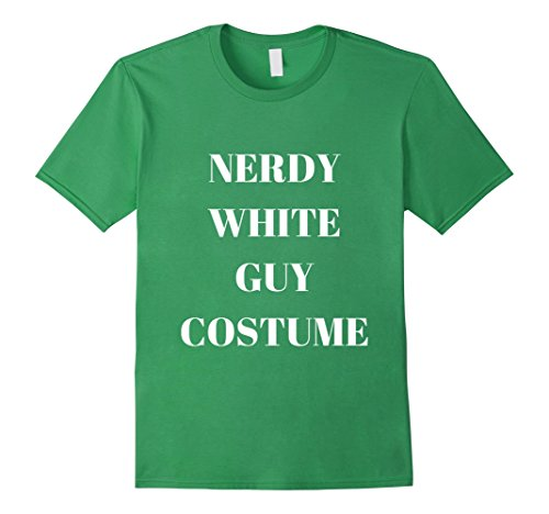 Funny Guys Halloween Costumes (Mens Nerdy White Guy Costume Funny Halloween Party T-shirt Large Grass)