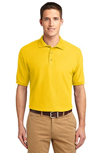 Sunflower Ports - Port Authority Silk Touch Polo. K500 Sunflower Yellow