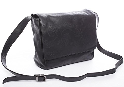 Josephine Osthoff Handtaschen-Manufaktur, Poschette giorno donna Nero nero 28,5 cm breit, 27 cm hoch, ca. 9 cm - 10 cm tief