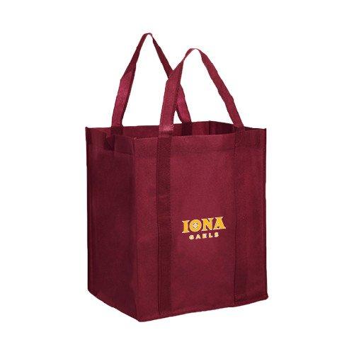 Iona Non WovenマルーンGrocery Tote「公式ロゴ」 B00W8XSU5E
