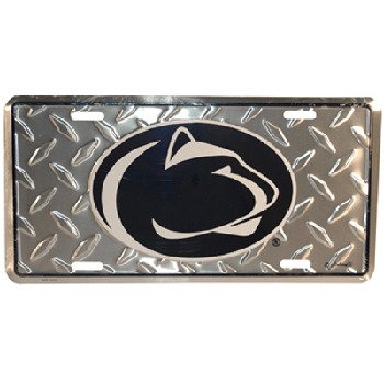 (NCAA Penn State Nittany Lions Diamond Plate Car Tag)