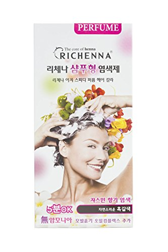 Richenna shampoo type perfume permanent hair color (DARK BROWN NO.6) by Richenna