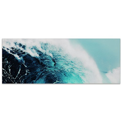- Empire Art Direct Blue Wave 1 Frameless Free Floating Tempered Glass Panel Graphic Wall Art, 63