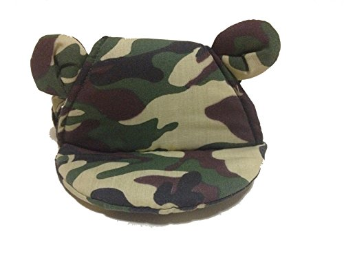 [Pet Hat Puppy Kitty Dog Cat Kitten Costume,Travel Outdoor,Cotton Soft Comfortable Visor Hat (camouflage,] (Gladiator Dog Costumes)