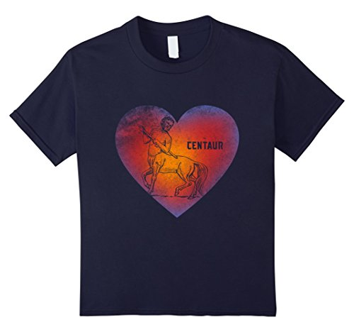 Kids Mythology Centaurus Centaur Half Man Horse Tee Gifts T Shirt 12 Navy