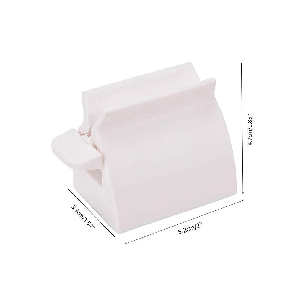 Gcroet Pasta de Dientes exprimidor del balanceo Blanco Tubo de Crema Dental del apret/ón del dispensador de Pasta de Dientes del sostenedor del Asiento del Soporte