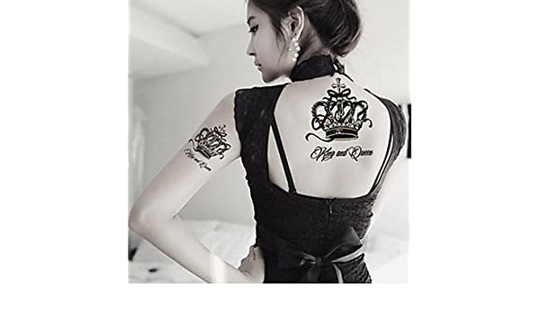 oofayzbl Sexy Reina Noble personalidad corona tatuaje pegatinas ...