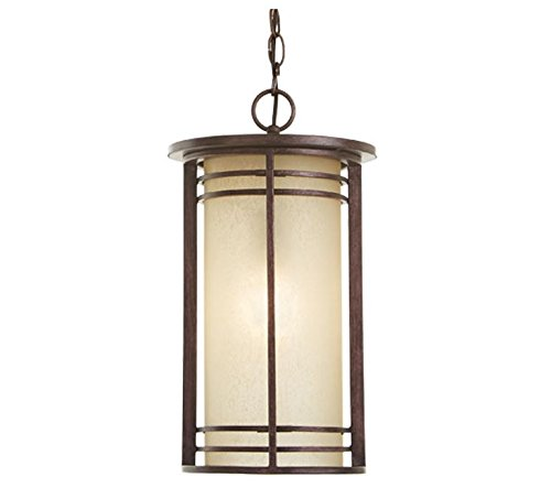 Home Decorators Collection 1-Light Bronze Outdoor Pendant with Amber Glass by Home Decorators Collection