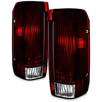 for ford bronco f150 f250 f350 pickup truck dark red tail lights brake lamps  replacement pair assembly