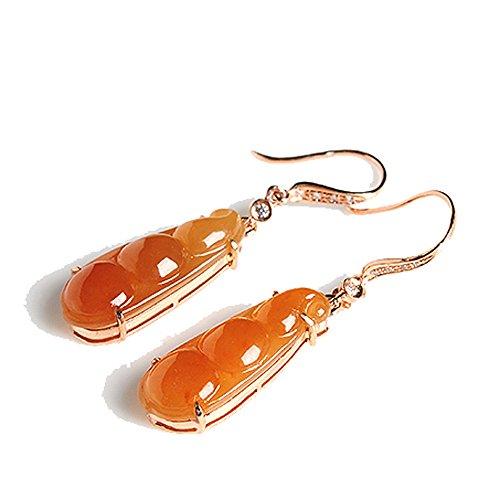 Jadeite Jade Drop Earrings (Grade A Jade) - Jadeite Earrings