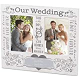 Things Remembered Personalized Our Wedding White Double-Opening Frame with Engraving Included