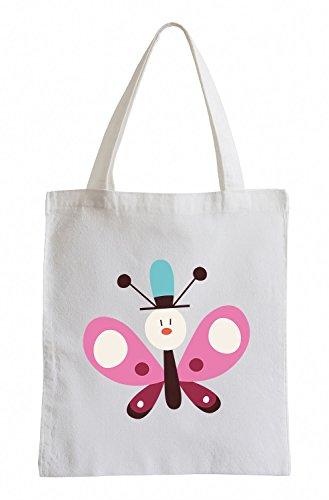 Raxxpurl Schmetterling mit Hut Fun Jutebeutel