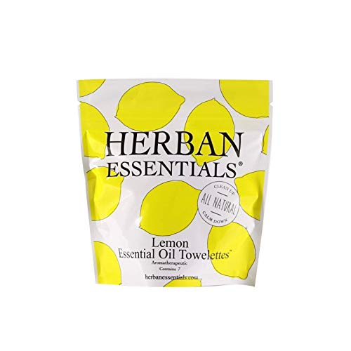 (Herban Essentials Mini Lemon Towelettes)