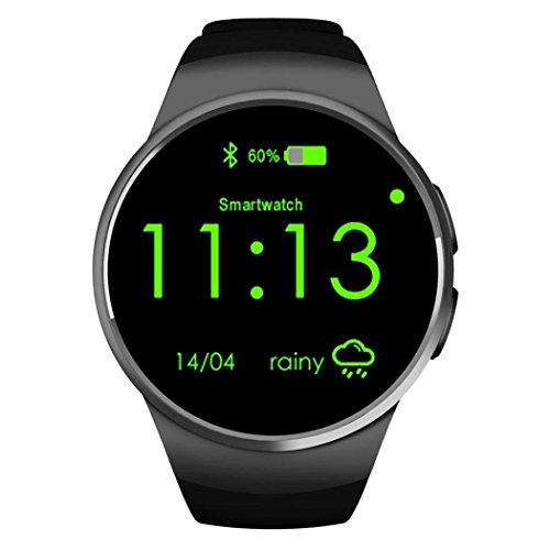 Skysea Bluetooth Smart Watch for Android Smart Mobile Phone Wrist Watch Watches For iOS iPhone Samsung LG Watch for bussiness Men Women (Black) from SkySea