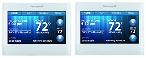 Honeywell TH9320WF5003 Wi-Fi 9000 Color Touch Screen Programmable Thermostat, White