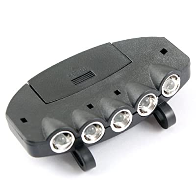 5 LED Light Under the Brim Cap Hat Headlamp Light for Hunting Fishing Hiking