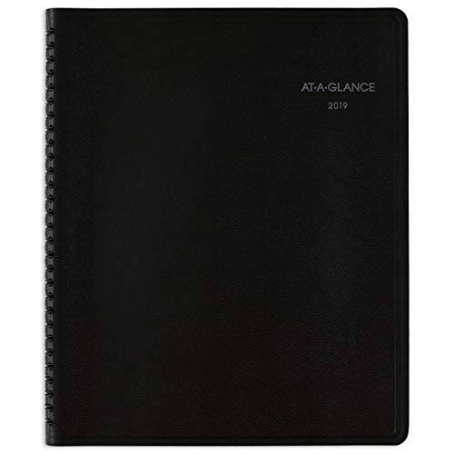 "AT-A-GLANCE 2019 Weekly & Monthly Planner / Appointment Book, QuickNotes, 8"" x 10"", Large, Black (760105)"