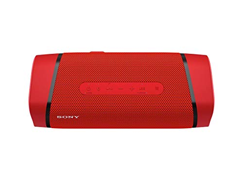 Sony SRS-XB33 EXTRA BASS Wireless Portable Speaker IP67 Waterproof BLUETOOTH and Built In Mic for Phone Calls, Red