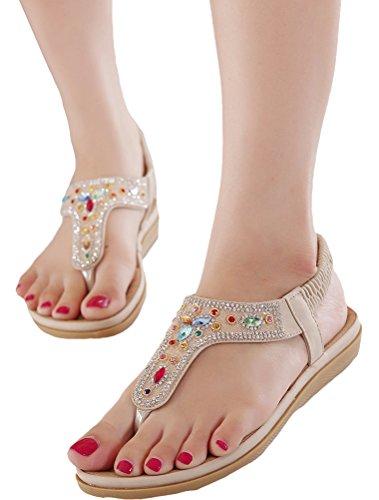 A Stile Stile 3 Piatto Bohemian Sandali Pantofole Donne Nuove Scarpe Vogstyle Albicocca Tacco qU1IA0wv