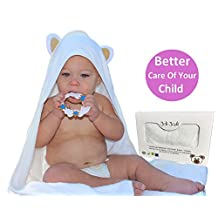 Joli Jodi Extra Soft Bamboo Hooded Baby Towel |Beach and Bath Towel |Antibacterial and Hypoallergenic| Highly Absorbent & Sized for Infant and Toddler(90*90 CM) | 500 GSM |
