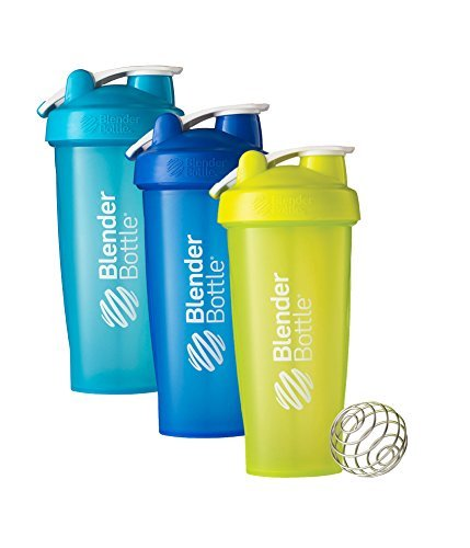 28 Oz. Hook Style Blender Bottle W/ Shaker Bundle-Full Color Aqua/Blue/Green