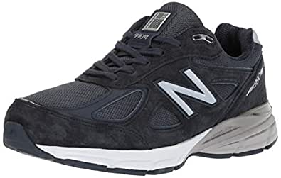New Balance Men's M990NV4 Running Shoe, Navy, 7.5 4E US