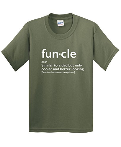 Funcle Gift for Uncle Graphic Novelty Sarcastic Funny T Shirt L Military (Christmas Presents Cheap Funny)