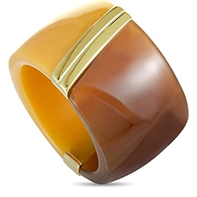 Calvin Klein Vision Yellow and Brown Gold PVD-Plated Stainless Steel Ring
