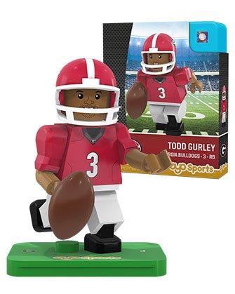 NCAA Georgia Bulldogs Todd Gurley Gen 2 Player Mini Figure, Small, Black