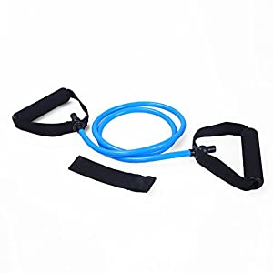 Adeco Single Resistance Band Door Anchor and Starter Guide, blue