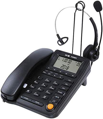 GUOOK TeléFono InaláMbrico Retro TeléFono Fijo TeléFono De Oficina Altavoz De La Casa (Operador/Servicio Al Cliente/Centro De Llamadas, Etc.) Negro: Amazon.es: Deportes y aire libre