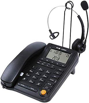 GUOOK TeléFono InaláMbrico Retro TeléFono Fijo TeléFono De Oficina ...