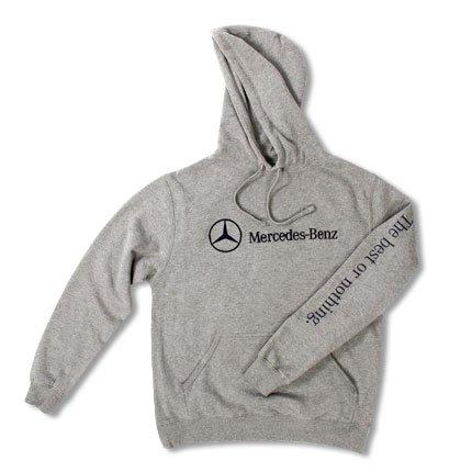 genuine mercedes benz fleece pullover hoodie size 2xl. Black Bedroom Furniture Sets. Home Design Ideas