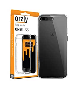 OnePlus 5 Case, Orzly FlexiCase for OnePlus 5 - CLEAR [Slim-Fit] Protective [Anti-Scratch] Flexible Skin Case Cover for New 2017 Oneplus 5 Smartphone