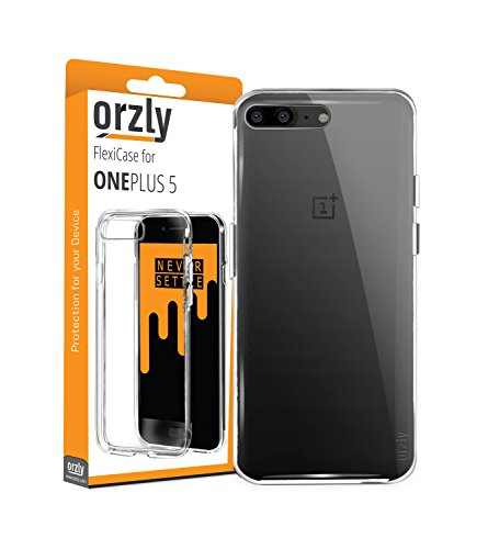 Price comparison product image OnePlus 5 Case, Orzly FlexiCase for OnePlus 5 - CLEAR [Slim-Fit] Protective [Anti-Scratch] Flexible Skin Case Cover for New 2017 Oneplus 5 Smartphone