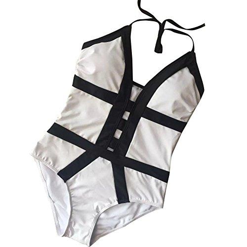 Pezzo Kword Beachwear Bagno Costumi Donne Monokini Bagno Bianco Imbottiti Bikini da un amp; Costumi da Nero qHXpH