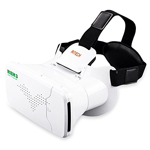 DIDEMI RITECH Riem 3 Virtual Reality 3D VR Glass Head Mounted Headset Private Theater for 3.5 - 6 inches Smartphone