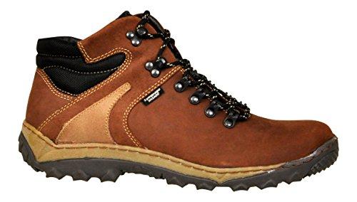 Lukpol Herren Naturlede Trekking Wandern Draussen Stiefel Braun - Modell 951