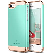 Caseology Savoy Series iPhone SE/5S/5 Cover Case with Stylish Design Glide Protective for Apple iPhone SE/5S/5 - Mint Green