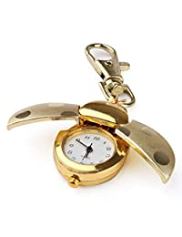 YTCYKJ Gold Quartz Analog Key Chain Key Ring Watch Pendant Gold Bug Animal Model - Golden