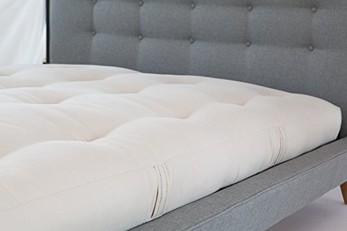 White Lotus Home OCWDM17 100% Organic Cotton and Wool Dreamton Mattress 60x80x5-Queen 5'' Futon, Natural by White Lotus Home