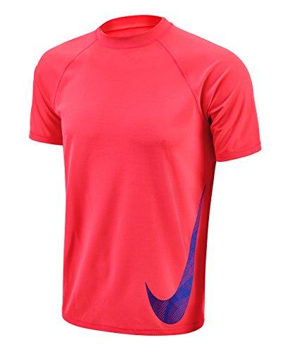 Nike Mens Heat Swoosh Short Sleeve Hydro Rash Guard XL BrightCrimson