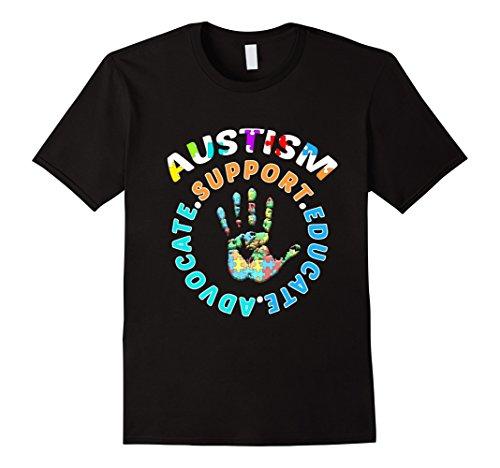 [Men's PROUD AUSTISM T-shirt Autism Awareness Medium Black] (Father Daughter Halloween Costumes)