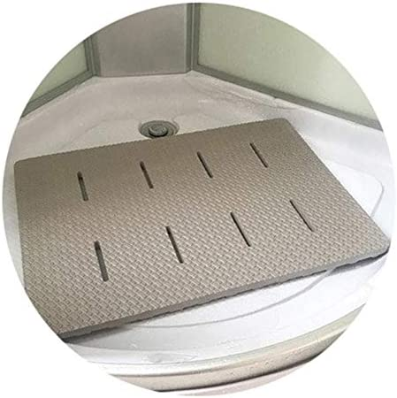 GHHQQZ 2個 バスルームラグ 大きい 厚い ノンスリップ EVA シャワー フットパッド 家庭 バスルームのカーペット、 8色、 厚さ2 cm 複数のサイズ (Color : Green, Size : D-85x60cm)